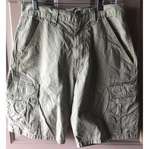 Wranglers Men's Khaki Cargo Camo Shorts 30 #0339